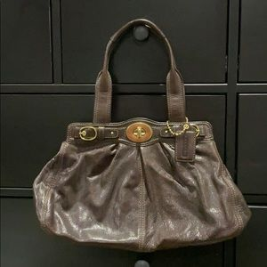 Coach brown handbag